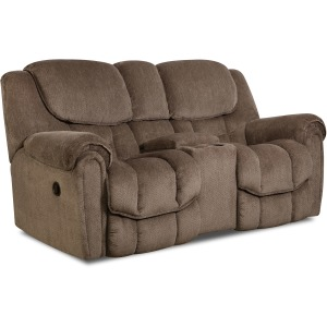 Delmar Power Reclining Loveseat w/Console
