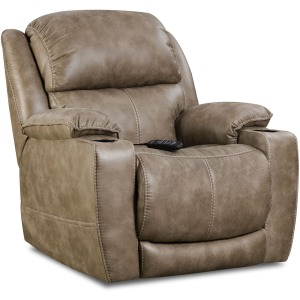 Starship Home Theater Triple Power Recliner in Mushroom