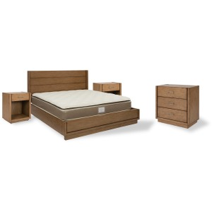 Montecito King Bed, Two Nightstands and Chest