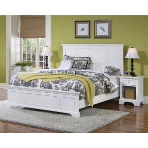 Century Queen Bed and Nightstand