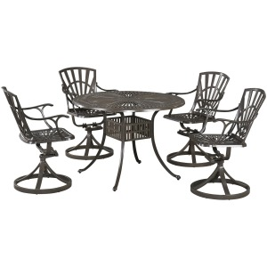 Largo Dining Set with Swivel Chairs