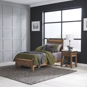 Forest Retreat Twin Bed and Nightstand