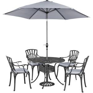 Largo 5 Piece Outdoor Dining Set with Umbrella