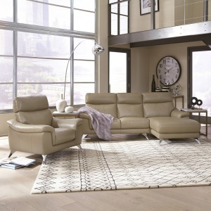 Moderno Chaise Sofa and Chair