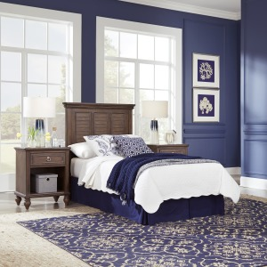 Marie Twin Headboard and Two Nightstands