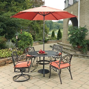 Sanibel 7 Piece Outdoor Dining Set with Umbrella and Cushions