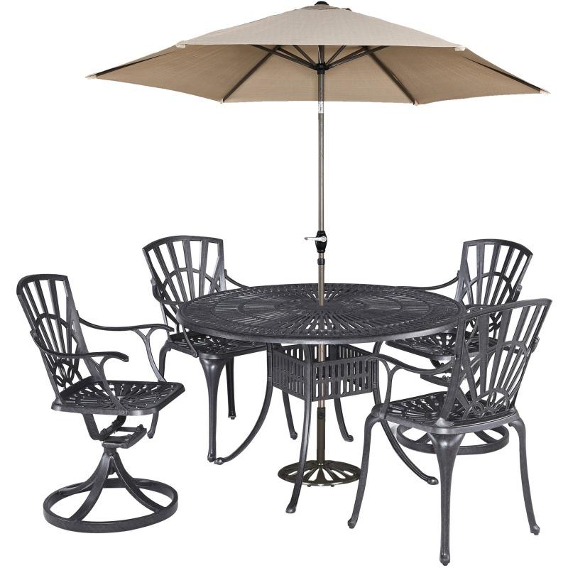 Grenada 5 Piece Outdoor Dining Set with Umbrella