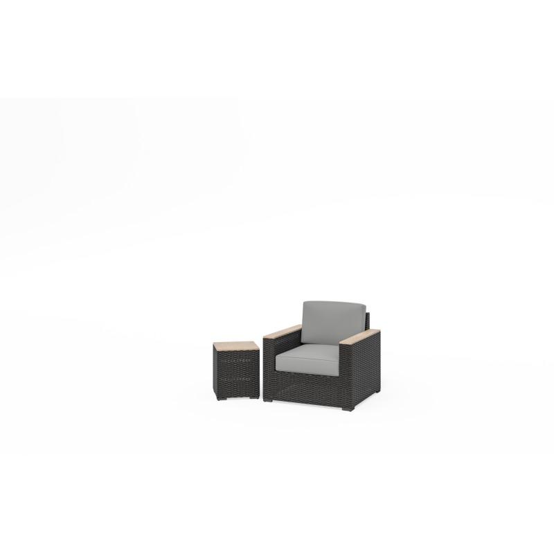Boca Raton Arm Chair and End Table Set