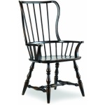 Spindle Back Arm Chair - Ebony