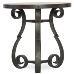 Luckenbach Metal and Stone End Table