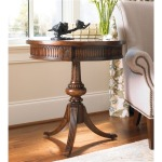 Furniture Round Pedestal Accent Table