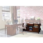 Furniture Danforth Open Credenza with Smart Hutch