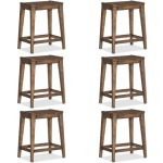 Set of 6 - Hill Country Medina Lake Backless Counter Stool