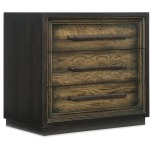 Metal Wrapped Three-Drawer Nightstand