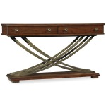 Furniture Palisade Cross Base Sofa Table