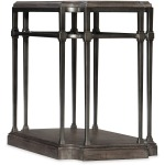 Woodlands Eight-Leg End Table w/ Metal Silhouette