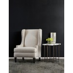 Melange Bellis Accent Table Abstract