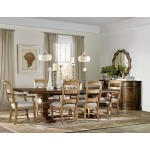 Archivist Trestle Table w/2-18in Leaves Room