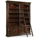 Grand Palais Double Bookcase with Ladder and Rail