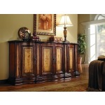 Four Door Two Tone Shaped Credenza