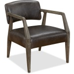 Mason Exposed Wood Club Chair Silhouette