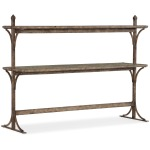 La Grange South 77 Metal and Wood Console Silhouette