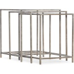 Novella Wavecrest Metal and Glass Nesting Tables Silhouette