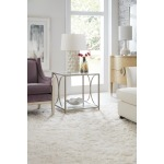 Novella Wavecrest Metal and Glass End Table Room