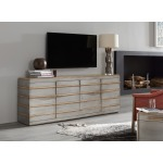 Urban Elevation Metal Entertainment Credenza Room