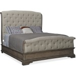 Woodlands King Upholstered Bed Silhouette