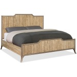 Urban Elevation California King Wood Panel Bed Silhouette