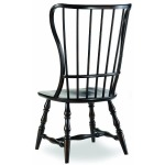 Sanctuary Spindle Back Side Chair - Ebony