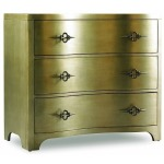 Sanctuary - Three Drawer Shaped Front Chest - Gold