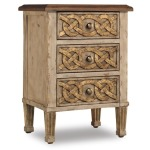 Three Drawer Accent Table