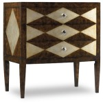 Three-Drawer Diamond Motif Chest
