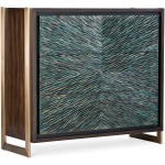 Melange Ophelia Three-Drawer Turquoise Chest Silhouette