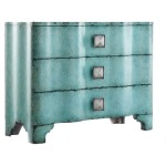 Turquoise Crackle Chest