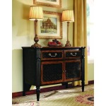 Two Door/Two Drawer Black Chest