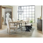 Ciao Bella 84in Trestle Table w/ 2-18in Leaves-Natural/Gray Room