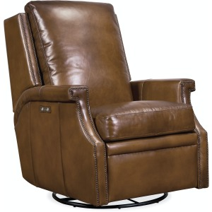 Leather Power Swivel Glider Recliner