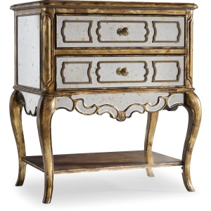 Mirrored Leg Nightstand