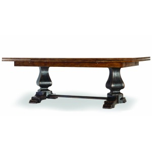 Hooker Furniture Dining Room Sanctuary Refectory Table - Ebony & Drift