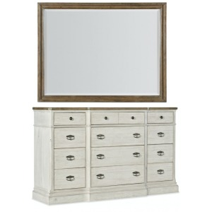 Montebello 12-Drawer Dresser with Mirror