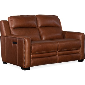 Lincoln Power Recline Loveseat w/Power Headrest & Lumbar Recliner