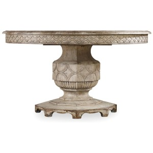"""Furniture Chatelet Round Dining Table with One 20\"""" Leaf"""