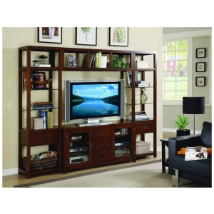 Hooker Furniture Home Entertainment Danforth Wall Group w/56