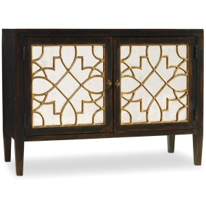 Furniture Living Room Sanctuary Two Door Mirrored Console- Ebony