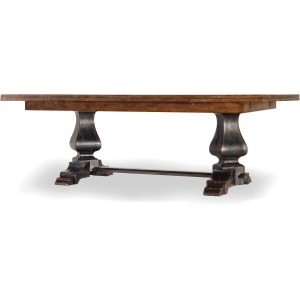 Sanctuary Refectory Table - Ebony & Drift