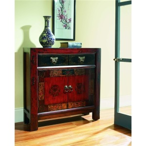Asian Two Door/One Drawer Hall Chest