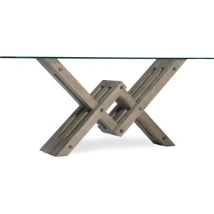 Affinity Glass Top Accent Console